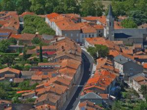 Centre du village de Dourgne depuis St-Stapin