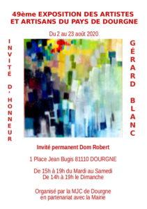 """Flyer """"49ème exposition des artistes et artisans du pays de Dourgne"""""""