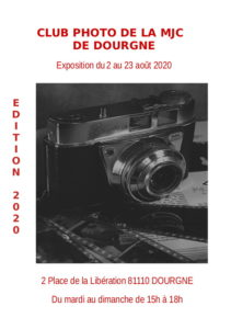 "Flyer ""Expo du club photo de la MJC de Dourgne"""