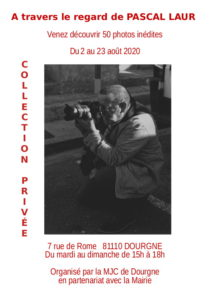"""Flyer """"À travers le regard de Pascal LAUR"""""""