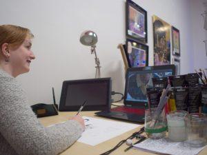 Nina, une artiste à Dourgne